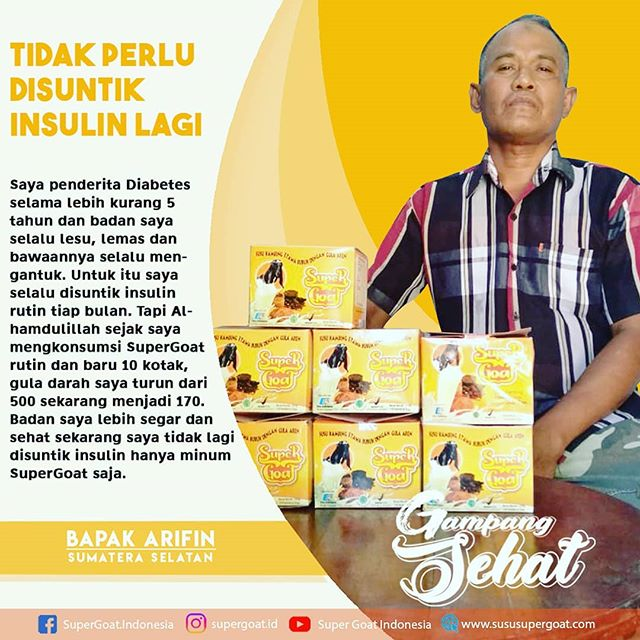 Testimoni Super Goat Sakit Diabetes